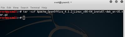 Cara Install Apache OpenOffice di Kali Linux