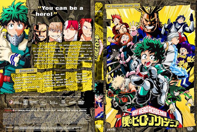 Capa DVD Boku No Hero (My Hero Academia) 1ª Temporada