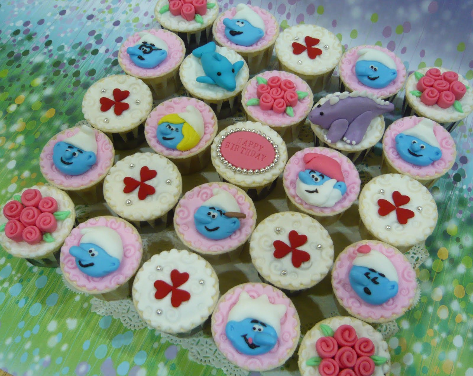 Smurfette Cakes Colours
