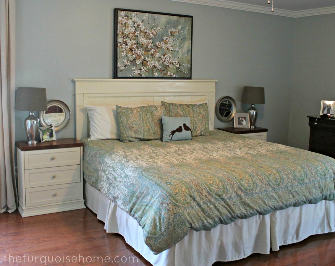 diy headboard master bedroom update  the turquoise home