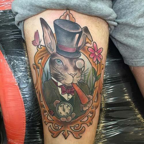 erkek üst bacak dövme modelleri man thigh tattoos 36