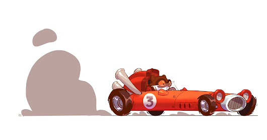 stuff. (by ido yehimovitz): Meow Abney plowing through the plains with his racer