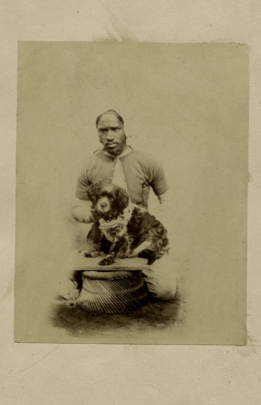 Man with a Dog - India 1870's