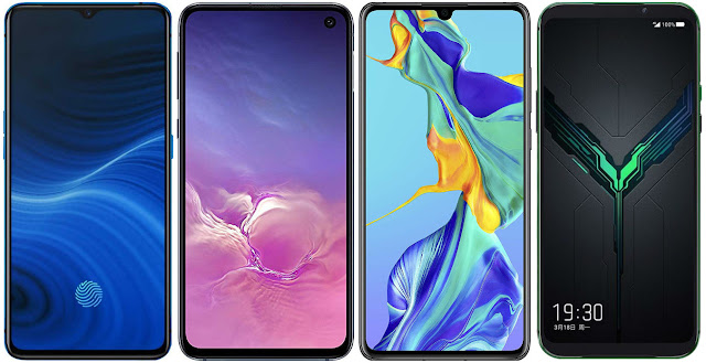 Realme X2 Pro 256 GB vs Samsung Galaxy S10e vs Huawei P30 vs Black Shark 2