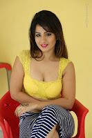 Cute Telugu Actress Shunaya Solanki High Definition Spicy Pos in Yellow Top and Skirt  0437.JPG