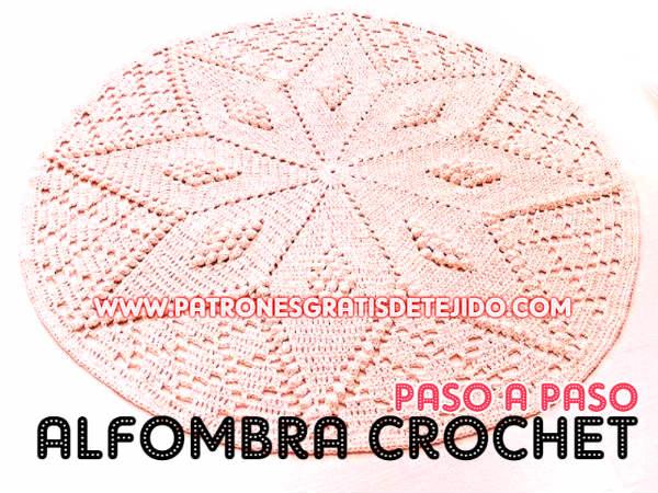 Aprende a tejer una alfombra a crochet / Paso a paso | Crochet y Dos ...