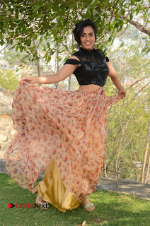 Actress Chetana Uttej Stills in Floral Long Skirt at Pichiga Nachav Movie Press Meet  0114.JPG