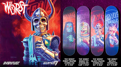 The Worst Everslick Skateboards by Santa Cruz Skateboards x Super7 x Ed Repka