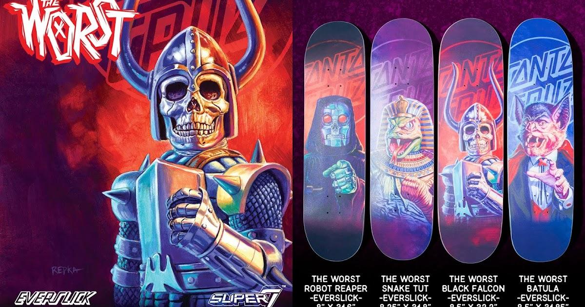 dc4d781c47a The Worst Everslick Skateboards by Santa Cruz Skateboards x Super7 x Ed  Repka