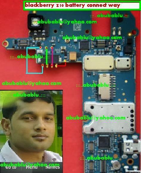 Blackberry z10 Bettery Connecter Jumper Ways  GSM Mobile