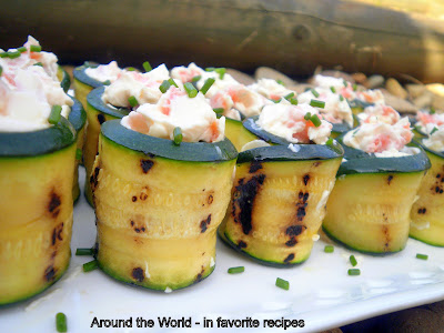 Zucchini Rolls with Cream Cheese and Smoked Salmon | Easy Finger Foods | Recipes And Ideas For Your Party