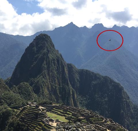 UFO Photographed Over Inca Citadel, Peru