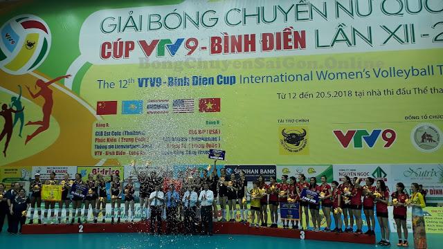 Kết thúc cúp quốc tế nữ VTV9 - Bình Điền 2018: Giang Tô (TQ) đăng quang