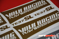 Volk Racing Rays Engineering TE37SL yellow vinyl