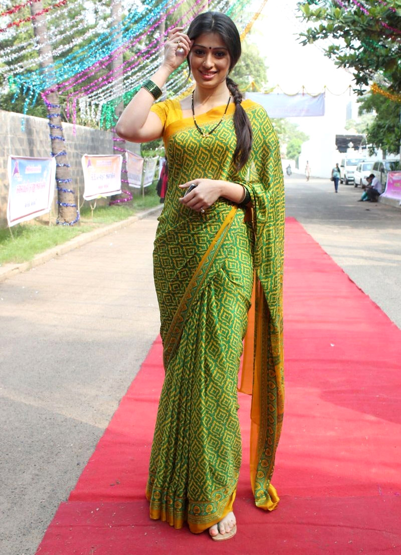 Lakshmi rai in green saree