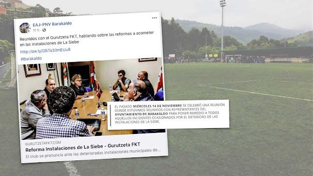 Información difundida en las redes sociales por el PNV