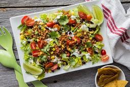 Veggie Frito Taco Salad #vegan #recipevegetarian