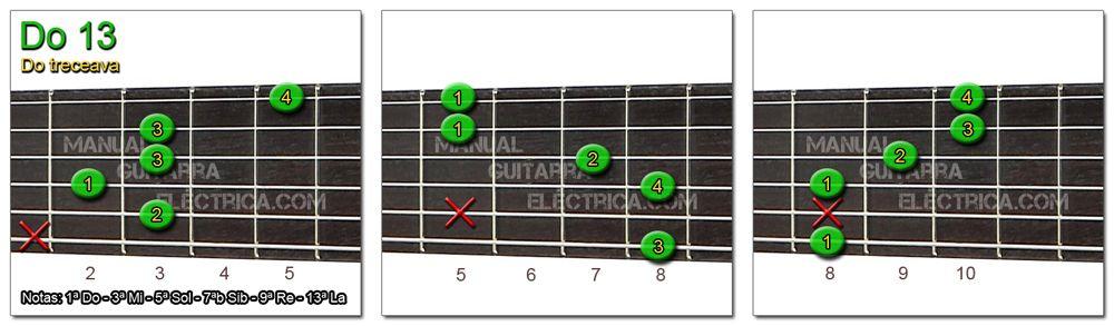 Acordes Guitarra Do Treceava - C 13