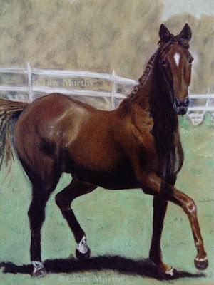 horse in pastel