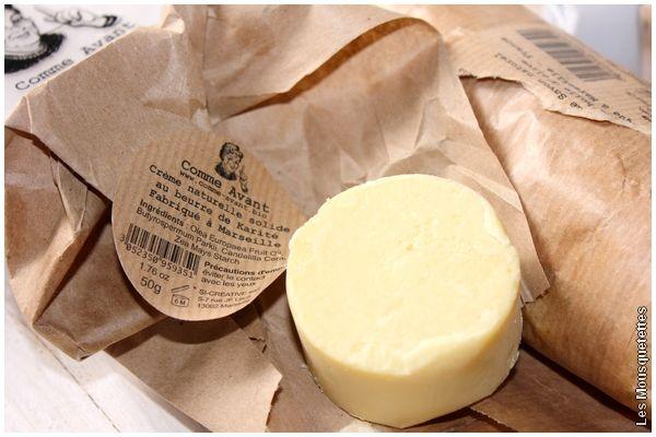 Crème solide à l'huile d'olive et beurre de karité, Comme Avant - Blog beauté Marseille