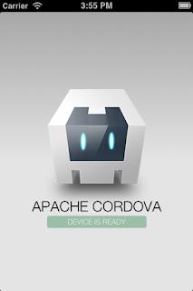Apache Cordova demo app home page