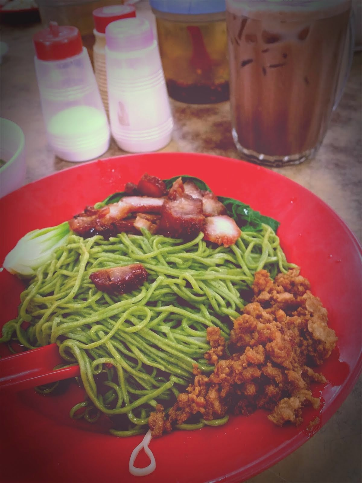 GREEN SPINACH NOODLES AT YOU JIAN RESTAURANT SUBANG 2