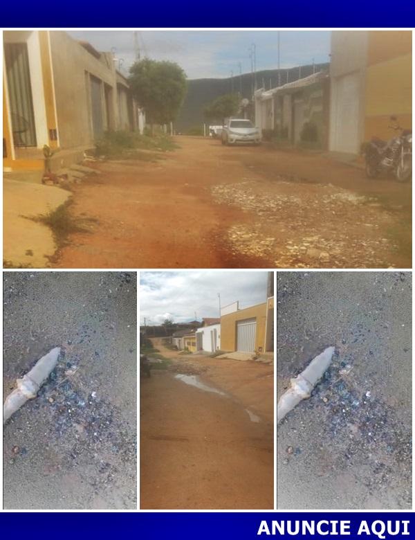 Moradores denunciam desperdício de água em Marcelino Vieira RN