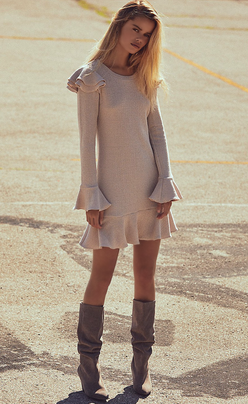Free People Chase Mini Dress