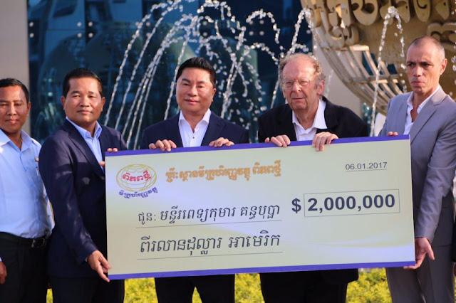 Don de deux millions de dollars aux hôpitaux Kantha Bopha