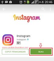 cara masuk instagram