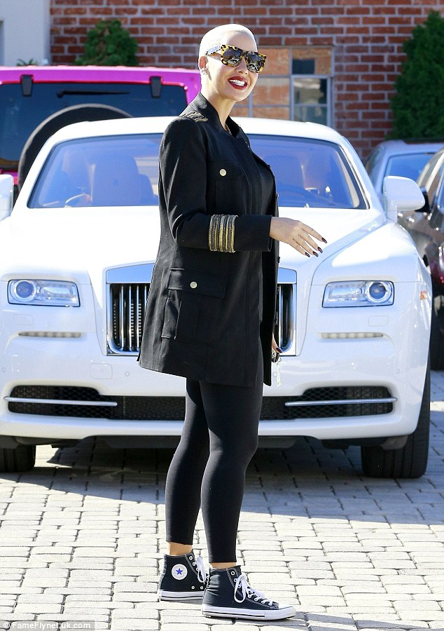 Amber Rose buys $371k Rolls Royce for her self as birthday gift.