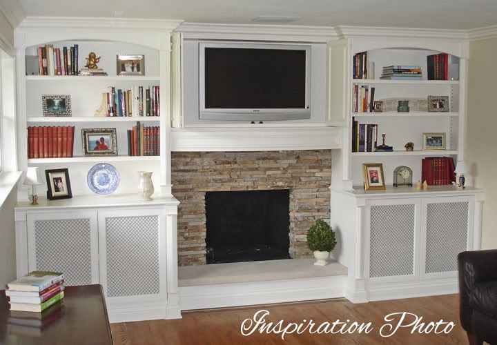 Built In Bookshelves Around Fireplace Shush In Your Home: My Sister's Family Room