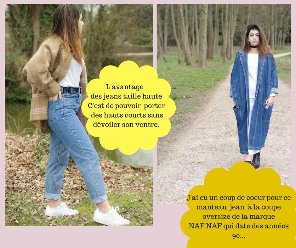 Manteau NAF NAF vintage rétro des années 80 et 90