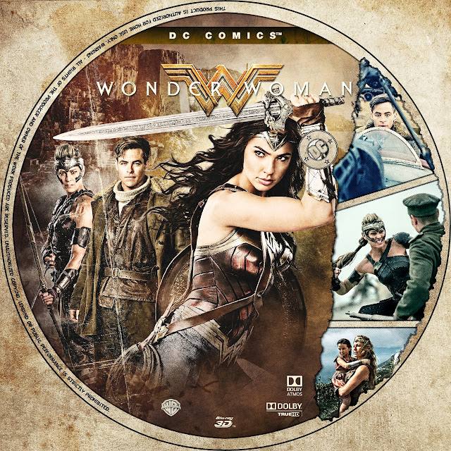 Wonder Woman 3D Bluray Label