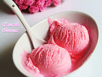Rosemilk ice cream