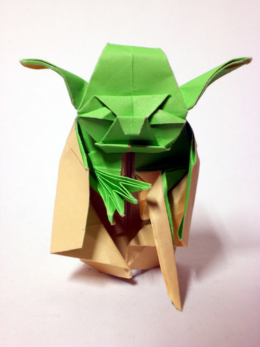 Star Wars Origami: Yoda Origami Instructions and Tutorial - photo#9