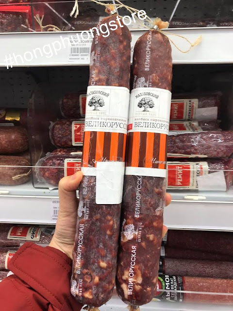Bán Salami hun khói Nga giá tốt chính hãng - Bánh kẹo Nga tết 2019