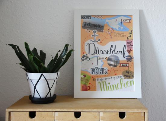 binedoro Blog, #liebesseeliggoesmunich , DIY, Erinngung, Collage, Bild, basteln