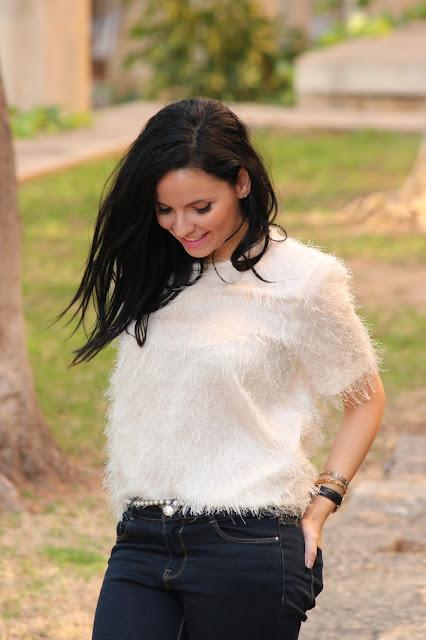 camiseta blanca zara woman