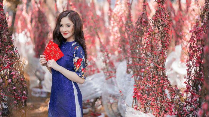 Spring Blue Ao Dai