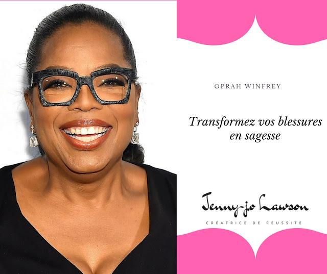 Jenny-Jo Lawson Coach présente une citation de Oprah Winfrey