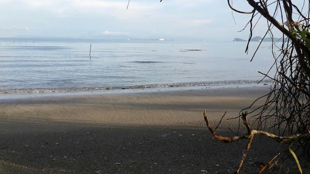 Keindahan hamparan pasir pantai alami