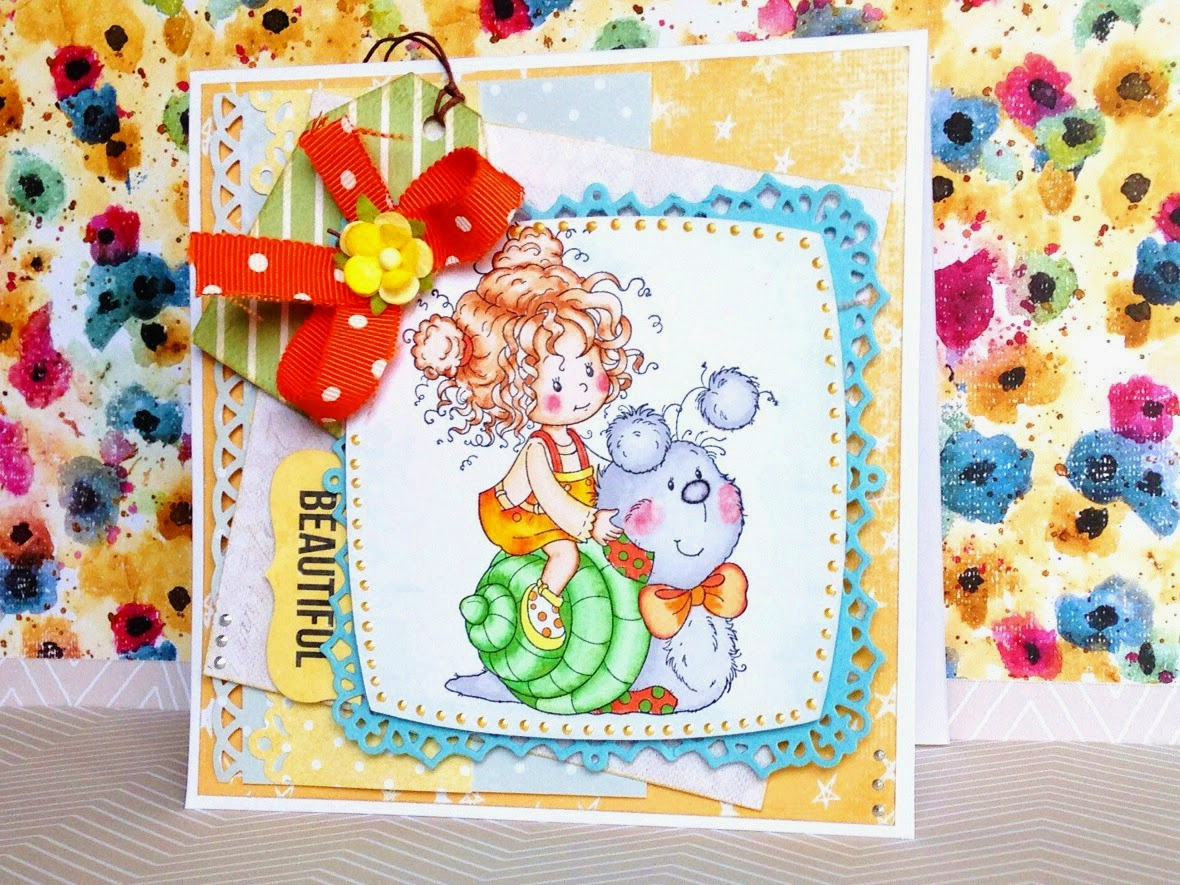 scrapbooking card for a little girl
