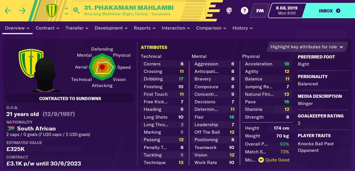 Phakamani Mahlambi FM20
