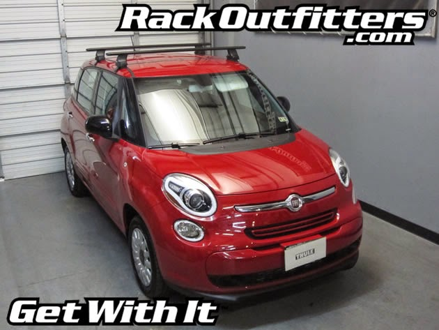 New Fiat 500l Thule Rapid Traverse Black Aeroblade Roof