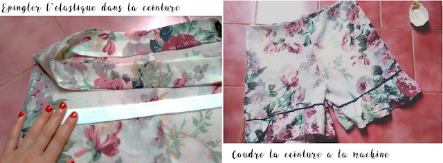 DIY -Short -Flowers Power -upcycling -sewing