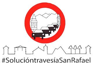 PLATAFORMA CIUDADANA - SOLUCIÓN TRAVESÍA DE SAN RAFAEL YA! nacional 6 N-VI el espinar alto del leon, trafico camiones,