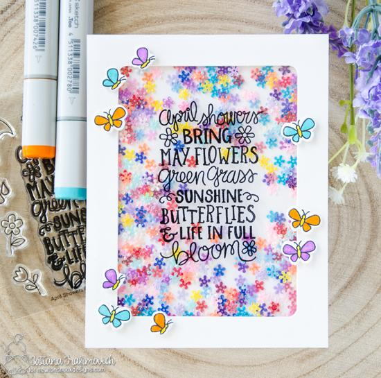 Spring Card by Juliana Michaels | April Showers Stamp Set by Newton's Nook Designs #newtonsnook #handmade