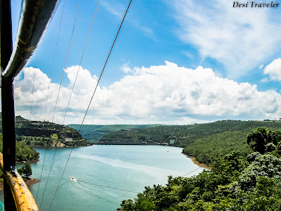 view from Srisailam Ropeway