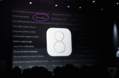 iOS 8 Akan Support WiFi Calling